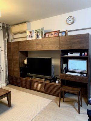 壁面収納 オーダーテレビボード ウォールナット