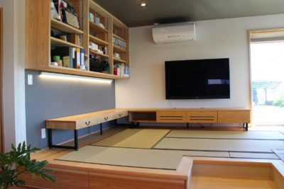 オーク材のオーダー家具